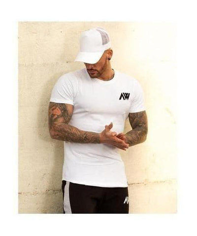 Aspire Wear Pro-Fit Tee White-Aspire Wear-Gym Wear
