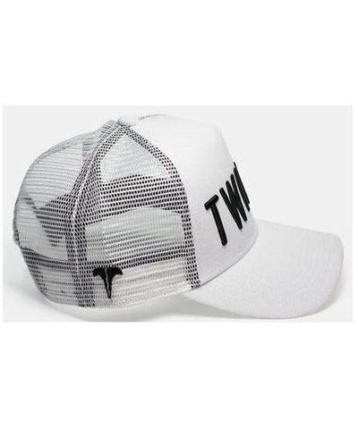 Twinzz 3D Mesh Trucker Cap White/Black-Twinzz-Gym Wear