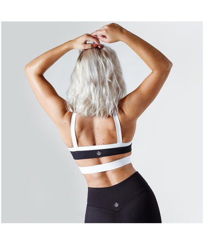 Workout Empire Strike Sports Bra Black-Workout Empire-Gym Wear
