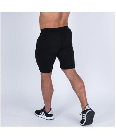 Muscle Nation V2 Tapered Shorts Black-Muscle Nation-Gym Wear
