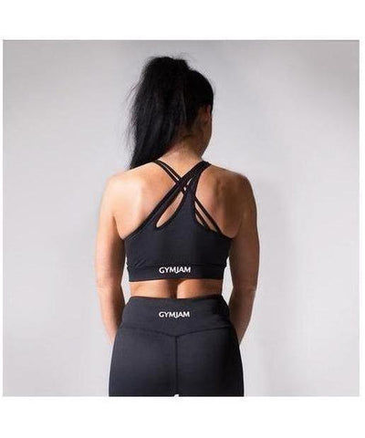 GymJam Aura Sports Bra Black-GymJam-Gym Wear
