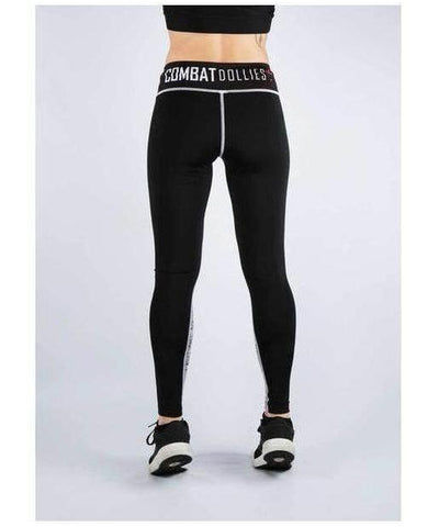 Combat Dollies Black Burnout Mix Fitness Leggings