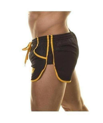 Aspire Wear Aesthetic Shorts Black/Gold-Aspire Wear-Gym Wear