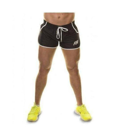 Aspire Wear Aesthetic Shorts Black and White-Aspire Wear-Gym Wear