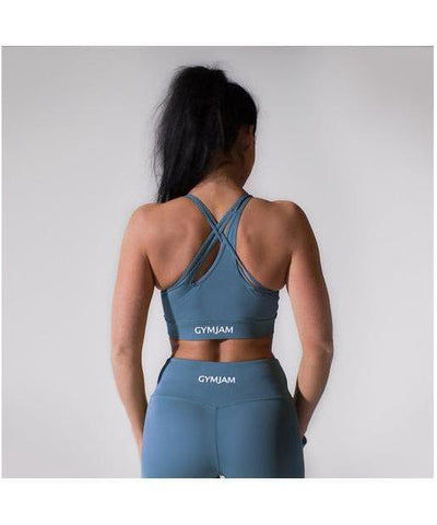 GymJam Aura Sports Bra Blue-GymJam-Gym Wear