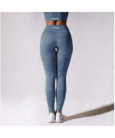 GymJam Aura Mesh High Waisted Leggings Blue-GymJam-Gym Wear