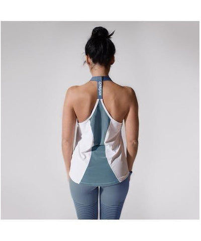 GymJam Aura Vest White/Blue-GymJam-Gym Wear