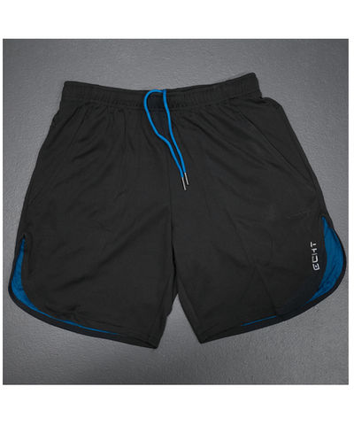 Echt Icon Curved Mesh Shorts Black/Blue-Echt-Gym Wear