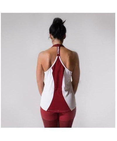 GymJam Aura Vest White/Burgundy-GymJam-Gym Wear