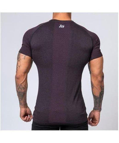 Muscle Nation Ghost V2 Seamless T-Shirt Burgundy-Muscle Nation-Gym Wear