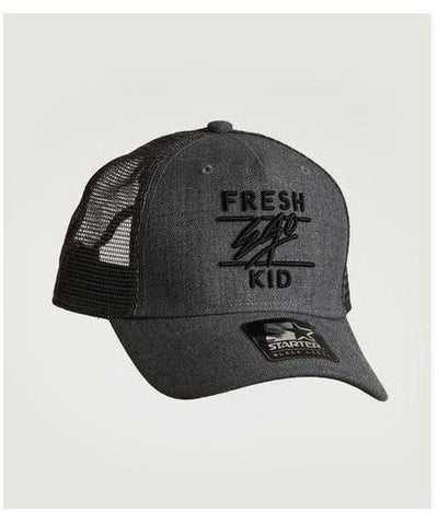 Fresh Ego Kid Mesh Trucker Cap Charcoal/Black-Fresh Ego Kid-Gym Wear