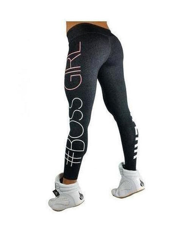 RyderWear Womens Boss Girl Leggings Charcoal-RyderWear-Gym Wear
