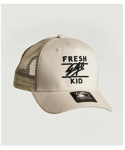 Fresh Ego Kid Mesh Trucker Cap Cream/Black-Fresh Ego Kid-Gym Wear
