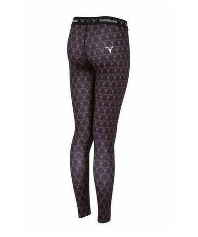 Cut Above Monogram Womens Leggings Black-Cut Above-Gym Wear