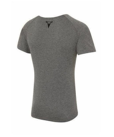 Cut Above 'Basik' Scoop Neck T-Shirt Grey-Cut Above-Gym Wear