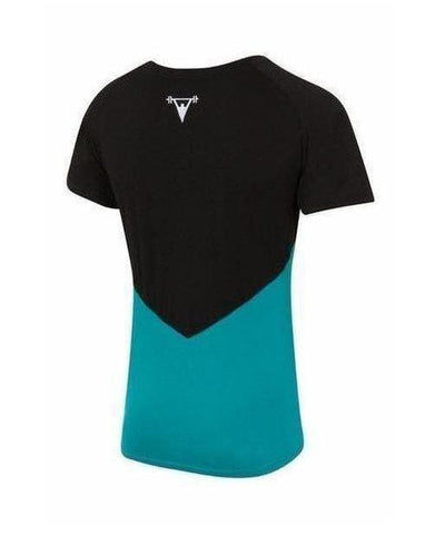 Cut Above 'Kontrast' T-Shirt Black/Aqua-Cut Above-Gym Wear