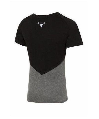 Cut Above 'Kontrast' T-Shirt Black/Grey-Cut Above-Gym Wear