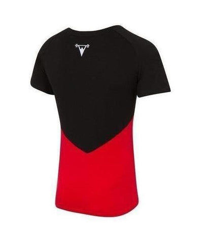 Cut Above 'Kontrast' T-Shirt Black/Red-Cut Above-Gym Wear