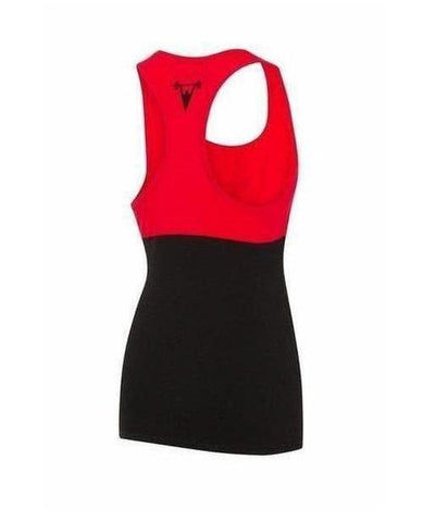 Cut Above 'Kontrast' Womens Vest Black/Red-Cut Above-Gym Wear