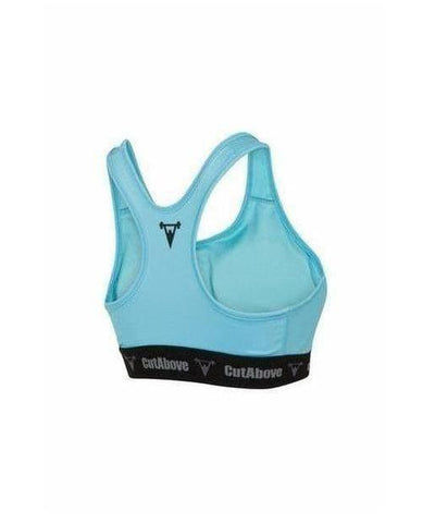 Cut Above 'Prime' Womens Sports Bra Teal-Cut Above-Gym Wear