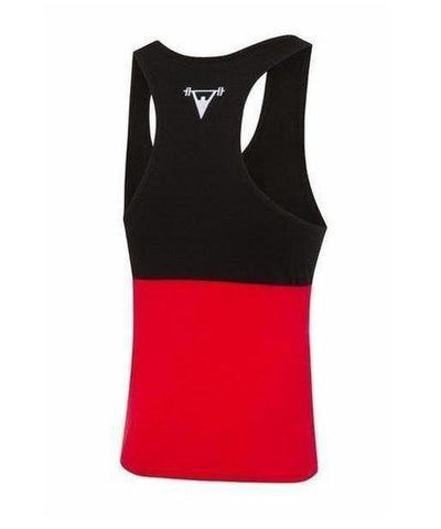 Cut Above 'Kontrast' Vest Black/Red-Cut Above-Gym Wear