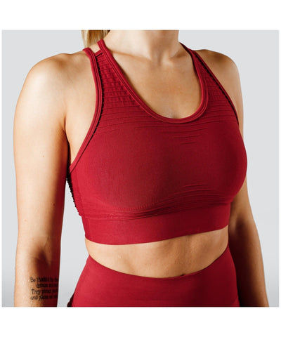 Workout Empire Regalia Flow Sports Bra Red-Workout Empire-Gym Wear