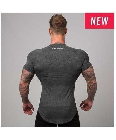 Muscle Nation ClimaFlex T-Shirt Dark Grey-Muscle Nation-Gym Wear