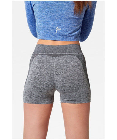 Famme Seamless Shorts Grey-Famme-Gym Wear