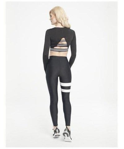 Gym Hero Sport Leggings White Stripes-Gym Hero-Gym Wear