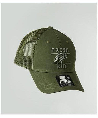 Fresh Ego Kid Mesh Trucker Cap Khaki-Fresh Ego Kid-Gym Wear