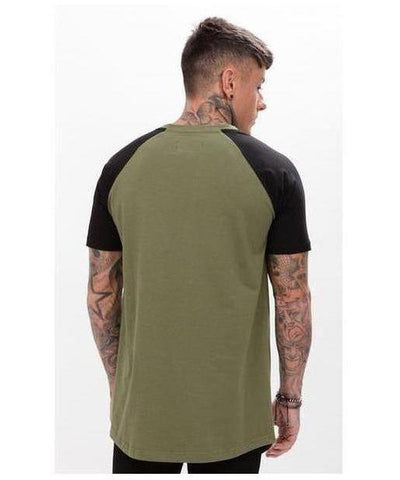 Enuki London Kyoto Raglan T-Shirt Khaki/Black-Enuki-Gym Wear
