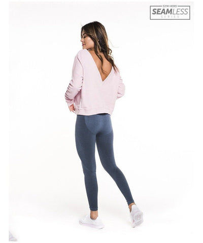 Gym Hero Seamless High Waisted Leggings Denim-Gym Hero-Gym Wear