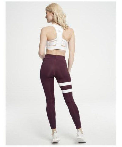 Gym Hero Sport Leggings Burgundy Stripes-Gym Hero-Gym Wear