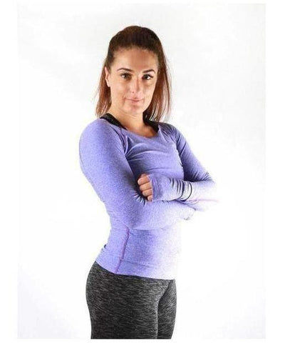 Combat Dollies Long Sleeve Top Lilac-Combat Dollies-Gym Wear