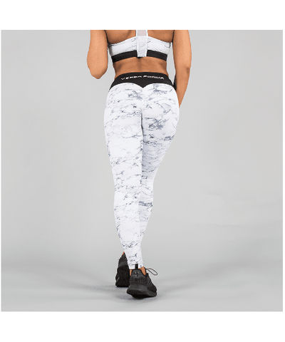Versa Forma White Marble Leggings-Versa Forma-Gym Wear