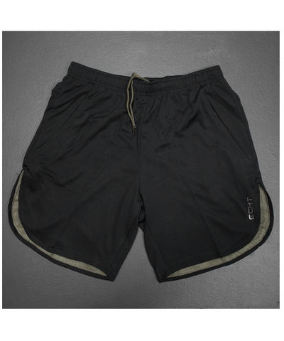 Echt Icon Curved Mesh Shorts Black/Khaki-Echt-Gym Wear