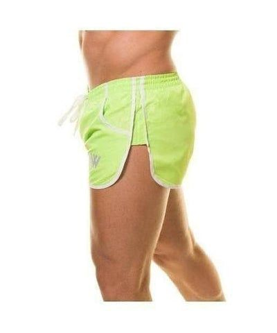 Aspire Wear Aesthetic Shorts Lime Green-Aspire Wear-Gym Wear