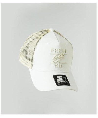 Fresh Ego Kid Mesh Trucker Cap Off White-Fresh Ego Kid-Gym Wear