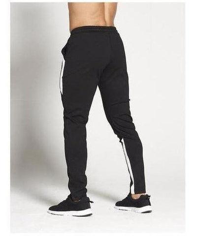 Pursue Fitness Pro Fit Sport Joggers Black/White-Pursue Fitness-Gym Wear