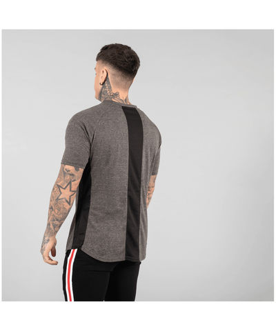 Versa Forma Booksar Vented T-Shirt Charcoal-Versa Forma-Gym Wear