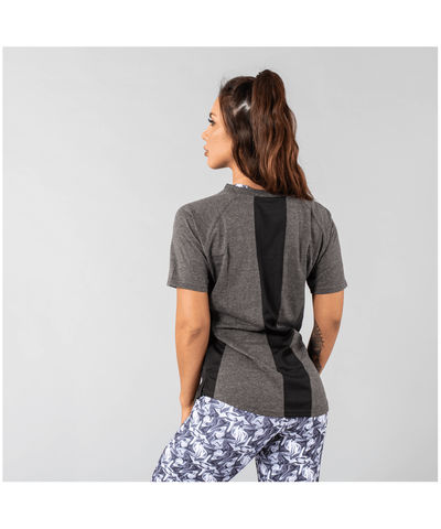 Versa Forma Femme Booksar Vented T-Shirt Charcoal-Versa Forma-Gym Wear