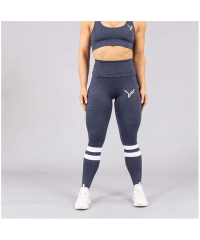 Versa Forma Lagom High Waisted Leggings Blue-Versa Forma-Gym Wear