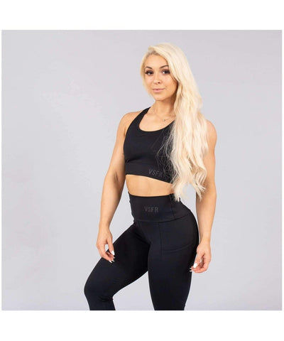 Versa Forma Mode Sports Bra Black-Versa Forma-Gym Wear