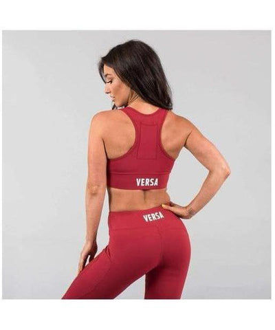 Versa Forma Motif 501 Sports Bra Crimson-Versa Forma-Gym Wear