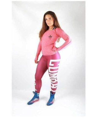 Combat Dollies Long Sleeve Top Red-Combat Dollies-Gym Wear