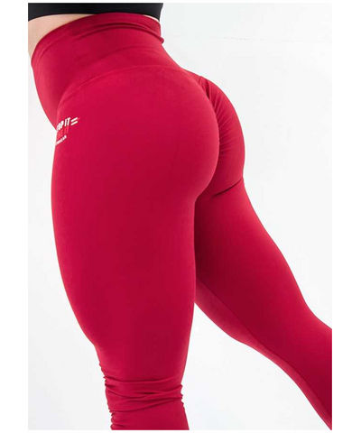 Stop It I Like It High Waisted Scrunch Leggings Sriracha-Stop It I Like It-Gym Wear