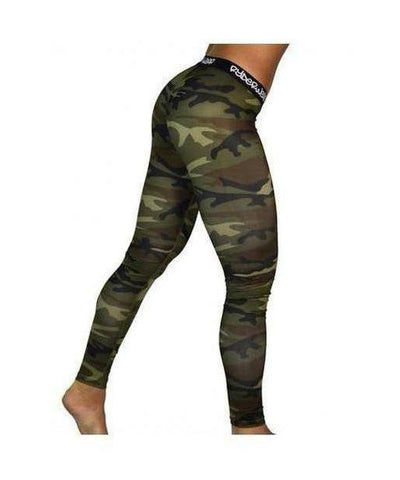 RyderWear Womens Camo Leggings-RyderWear-Gym Wear