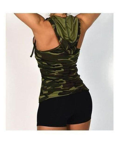 RyderWear Womens Mesh Zip Vest Camo-RyderWear-Gym Wear