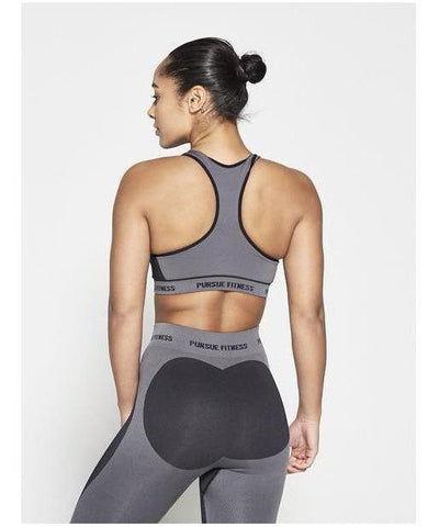 Pursue Fitness Seamless Sports Bra Black-Pursue Fitness-Gym Wear