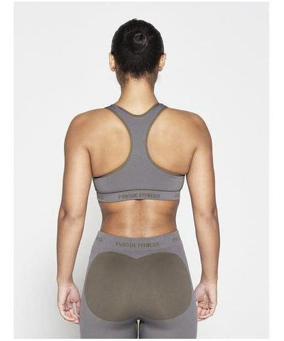 Pursue Fitness Seamless Sports Bra Khaki-Pursue Fitness-Gym Wear
